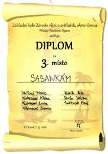 160507 - Diplom za 3. místo